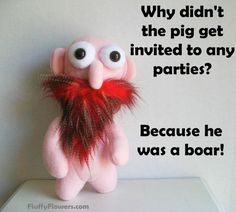 cute & clean math pig joke for children featuring an adorable bald viking with a red mustache & beard :) Jokes And Riddles, Silly Jokes, Jokes For Kids, Funny Puns, Dad Jokes, Funny Stuff, Funny Things, Kid Stuff, Stupid Jokes