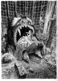 Laurent Gapaillard http://laurentgapaillard.blogspot.co.uk/     Illustration du Yark, le Yark malade chez Madeleine
