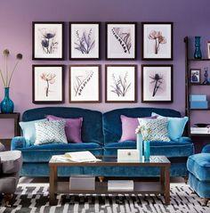Фиолетовый интерьер ( ФОТО ) - IQInterior