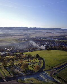 Kirriemuir from the hill. Kirriemuir, Scotland.