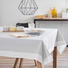 Nappe carrée en coton gris 170 x 170 cm PEROLERA | Maisons du Monde