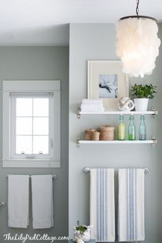 Shades of blue gray paint are totally on trend and shown to increase a home's resale value. Read on to see some of my favorite blue gray paint colors! Interior Paint Colors, Paint Colors For Home, Interior Painting, Pottery Barn Paint Colors, Regal Bad, Blue Gray Paint Colors, Bluish Gray Paint, Wall Colors, Blue Gray Bedroom