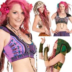DASHIKI CROP TOP, African Angelina print tribal pixie rave Goa psy trance bikini in Clothes, Shoes & Accessories, Women's Clothing, Tops & Shirts | eBay
