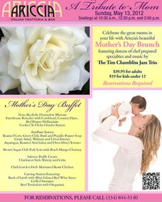 Join us for Mothers Day in Ariccia!