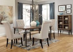 Tripton Rectangular Dining Table w/ 4 Side Chairs, /category/dining-room/tripton-rectangular-dining-table-w-4-side-chairs.html