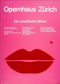 Josef Mueller-Brockmann, Die schalkhafte Witwe, Opernhaus Zuerich, 1971