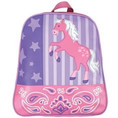 Liv picked out this backpack for school this year!    CuteKidsGear.com - Horse Backpack for Girls, $24.99 (http://www.cutekidsgear.com/horse-backpack-for-girls/)