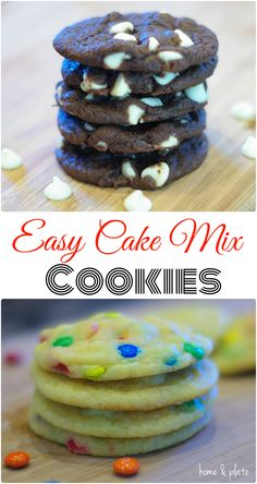 Easy Cake Mix Cookies - Home & Plate - Fresh Ideas & Simple Recipes