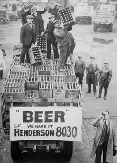 Man enjoying the End of Prohibition in Ohio, December 1933