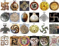 swastika, crux gammata, cross cramponnée, hakenkreuz, fylfot, or wanzi  卐 or 卍