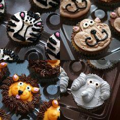 zoo cupcakes....elephants for Elliott!
