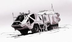 This was a concept illustration for another Imagine FX development article I featured in. The idea behind this vehicle is that its a futur. Concept Art World, Concept Cars, Concept Ships, Syd Mead, Future Trucks, Star Wars Episode Iv, Sci Fi Armor, Engin, Expedition Vehicle
