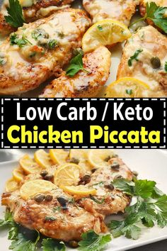This easy low carb keto chicken piccata is a great Italian dish perfect for your family dinner on busy weeknights. This keto lemon chicken piccata is very delicious which includes chicken pieces in a creamy buttery lemon sauce. Low Carb Chicken Recipes, Healthy Low Carb Recipes, Low Carb Dinner Recipes, Low Carb Keto, Keto Dinner, Healthy Chicken, Lunch Recipes, Breakfast Recipes, Dessert Recipes