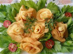 rosas de patata, receta original y fácil