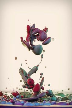 Italian photographer Alberto Seveso once again displays his mastery of high speed photography, this time showing ink mixing with oil in a series called Dropping. High Speed Photography, Water Photography, Ink In Water, Oil Water, Colossal Art, Paint Splash, Photomontage, Belle Photo, Photo Art