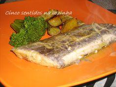 Cinco sentidos na cozinha: Peixe - espada no forno com batata doce assada