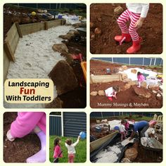 10 Tips & Strategies for landscaping a natural playspace with toddlers helping...and still having fun!