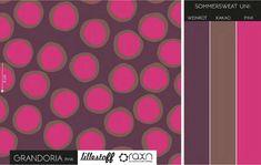 Bio-Stoffe - Lillestoff Bio Summersweat Grandoria, pink - ein Designerstück von Die-Stofftante bei DaWanda