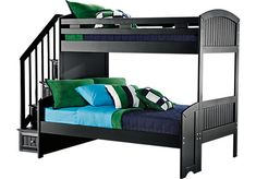 Cottage Colors Black Twin Full Step Bunk Bed . $999.99. 98.5L x 57.5W x 70H. Find affordable Bunk/Loft Beds for your home that will complement the rest of your furniture.