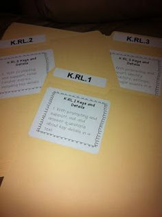 Cheers to School: Kindergarten Common Core File Folder Organization Freebie
