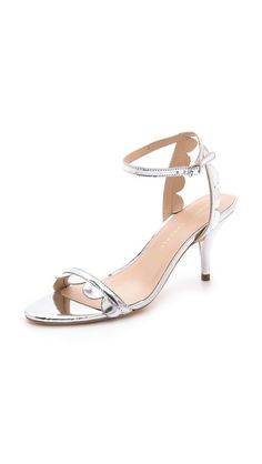 lillit scalloped kitten heel sandals / loeffler randall