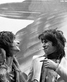 Ronnie Wood and Keith Richards, 1975