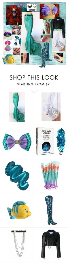 """""""Punk Aerial."""" by sjcountrygirl-sj on Polyvore featuring The Fashion Bible, Disney, Mermaid Salon, Disney Couture, Nasty Gal, Alyx and Off-White"""