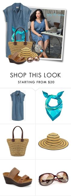 """""""Beach Bag Shoulder Bags"""" by tasha1973 ❤ liked on Polyvore featuring J.Crew, Madison Knight, Naot, Polaroid and Life's a Beach"""