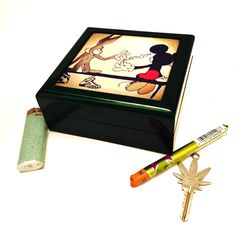 Mickey Mouse and Bugs Bunny Secret Weed Stash Box 420 Pride!