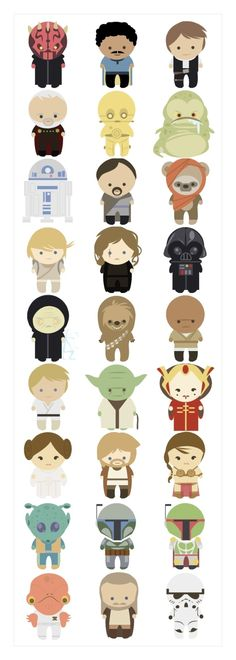 Star Wars Cuteness by pat-75 i will make these into door decs