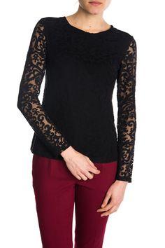 Czarna koronkowa bluzka
