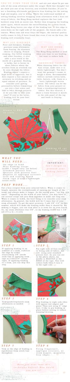 Tutorial: Reverse Hong Kong Bias Binding - Madalynne - The Cool Patternmaking and Sewing Blog