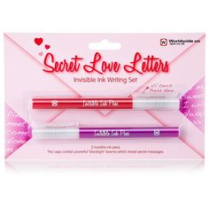 Kids who love keeping journals and sending secret messages will love this invisible ink writing set from NPW Gifts