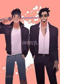 Genji and Hanzo Shimada Genji Overwatch, Overwatch Fan Art, Genji Shimada, Hanzo Shimada, Character Concept, Character Art, Character Design, Shimada Brothers, Fight Me Meme