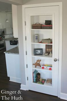 DIY Bookshelf Door - We decided to make our downstairs closet into a bookshelf door. I've seen these around on pinterest, and was excited when we finally decide…