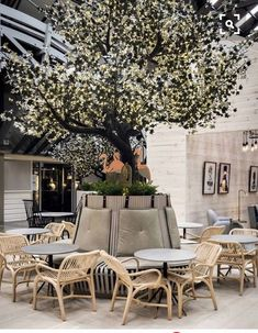I love the idea of trees in the house. Just something big in massive like this. Not the style though. #restaurantdesign