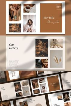 KALINA - Powerpoint Brand Guidelines Brand Presentation, Presentation Layout, Presentation Templates, Layout Template, Keynote Template, Brand Guidelines Template, Lookbook Layout, Magnolia Design, License Photo