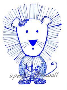 Kindergarten Löwe. Bestellen Sie diese doodled von UpAgainstTheWall