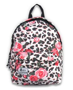 Leopard and Rose Mini Backpack