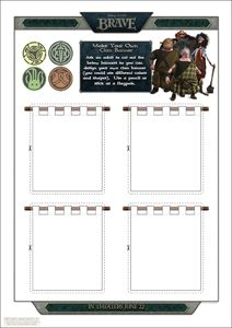 Design your own BRAVE Banner and more ... Free Downloadables and Printables from Disney's BRAVE Movie