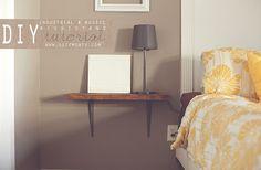 DIY $7 Industrial and Rustic floating nightstands