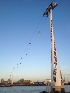 Emirates Air Line across the River Thames in London, England