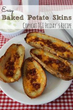 Easy Baked Potato Skins | Any Game Day party is better with these homemade potato skins!