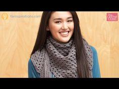 Crochet Big Fringe Triangle Scarf (Child & Adult) - YouTube