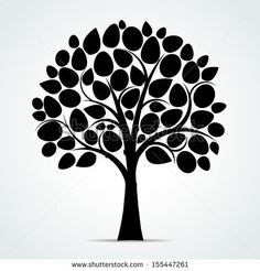 Black tree silhouette - Vector illustration by Vector House, via Shutterstock