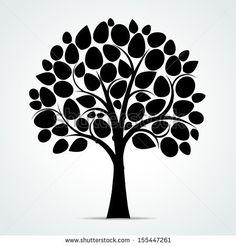 Black tree silhouette - Vector illustration by Vector House, via Shutterstock