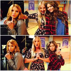 """Photos: Bella Thorne With The Cast Of """"K.C. Undercover"""" October 10, 2014"""