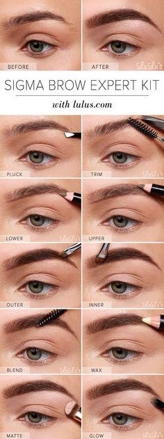 LuLu*s How-To: Sigma Brow Expert Kit Eyebrow Tutorial at LuLus.com! #Brows