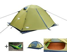 Luxe Tempo Enhanced 2 Person Tents for Camping 3-4 Season Backpacking Tents with Free Hammock 2 Doors 2 Vestibules -- To view further for this item, visit the image link.