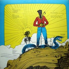 Wilfred Limonious rear sleeve for 'Jah Send Me Come'  by Dignitary Stylish in 1986 on Harmodio Records.